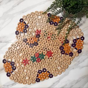 Vintage Boho Wooden Bead Placemats